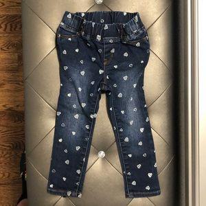 Denim jagging jeans